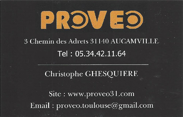 Christophe Ghesquiere, Agent commercial PROVEO